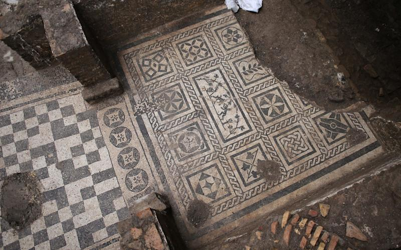 Archaeologists found mosaics depicting birds, satyrs and cupids.