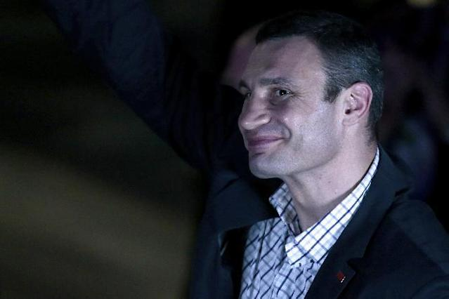 WBC heavyweight champion Vitali Klitschko, of Ukraine, smiles attending a boxing evening in Moscow, Russia, on Friday, May 17, 2013. (AP Photo/Ivan Sekretarev)