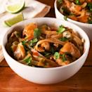 """<p>Skip the Thai takeaway and make your own curry at home! This easy dish comes together easily for a simple weeknight dinner that's full of flavour and soul comforting.</p><p>Get the <a href=""""https://www.delish.com/uk/cooking/recipes/a35276875/chicken-noodle-curry-recipe/"""" rel=""""nofollow noopener"""" target=""""_blank"""" data-ylk=""""slk:Chicken Noodle Curry"""" class=""""link rapid-noclick-resp"""">Chicken Noodle Curry</a> recipe.</p>"""
