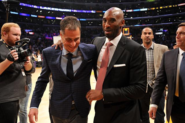 Tuesday's reports begs the question of why Rob Pelinka would make up the Kobe Bryant-Heath Ledger story. (Getty)