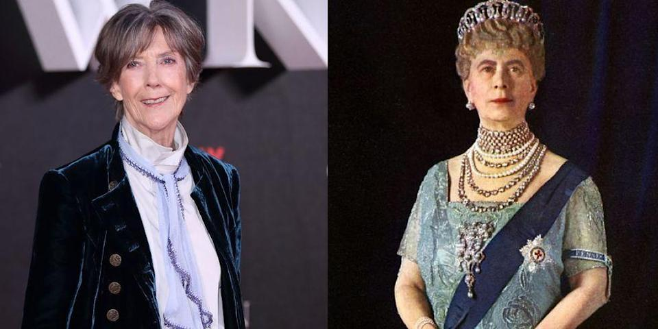 <p>Emmy Award–winning actress Dame Eileen Atkins played Elizabeth II's grandmother Queen Mary. Although Queen Mary died at age 85, just a year after Elizabeth took the throne, it's thought that she left a big impression on her granddaughter.</p>