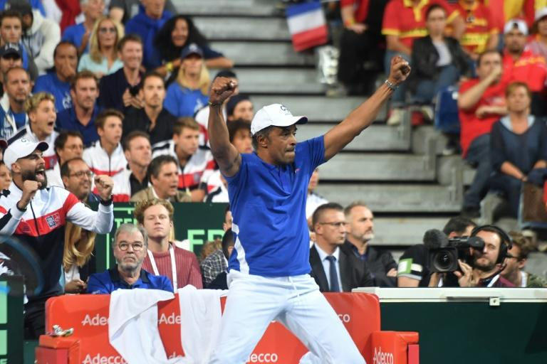 France takes 2-0 lead over Spain in Davis Cup semis