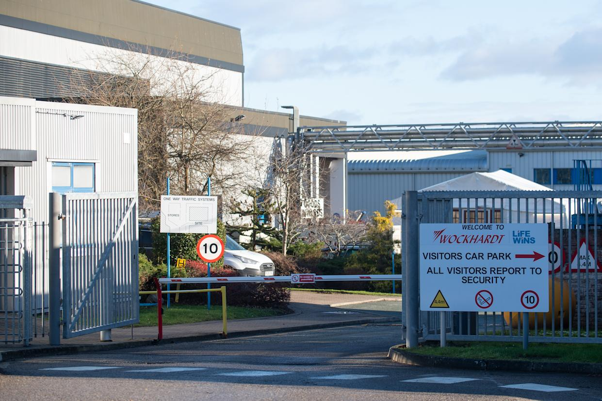 The Wockhardt pharmaceutical manufacturing facility on Wrexham Industrial Estate in North Wales, where emergency teams were called out to protect supplies of the Oxford/AstraZeneca coronavirus vaccine following flooding from the heavy rainfall caused by Storm Christoph. Picture date: Thursday January 21, 2021.