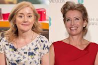 Sophie Thompson – sister of Emma Thompson: Actress Sophie has had roles in several of double-winner Emma's films, 'Harry Potter And The Deathly Hallows', and 'EastEnders' (Credit: Rex)