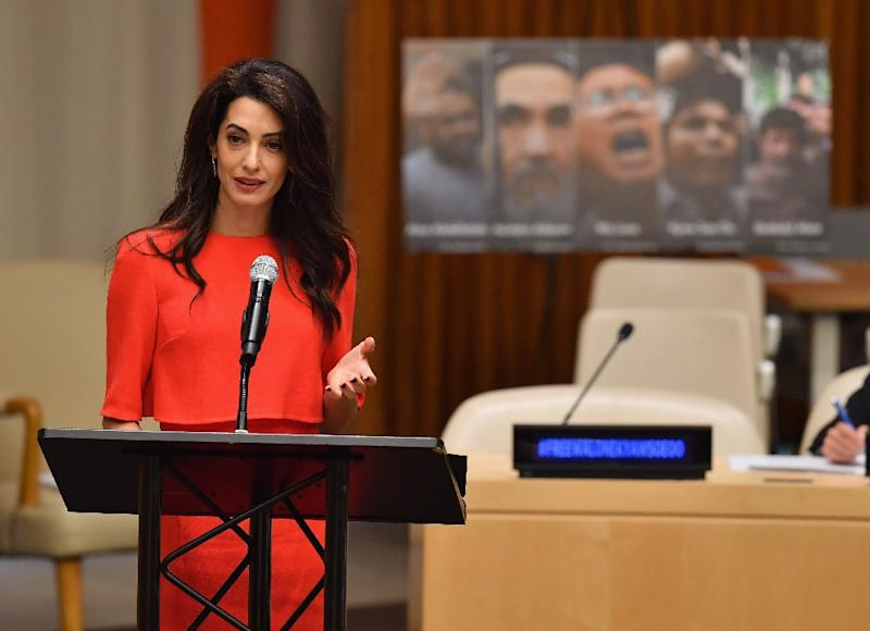Amal Clooney appeals to Aung San Suu Kyi for reporters' release
