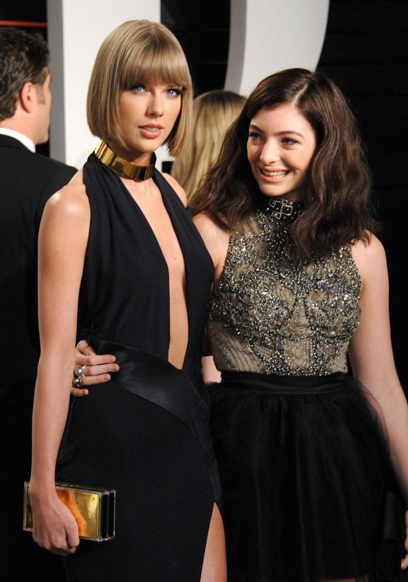 What would Lorde's celeb BFF Taylor Swift think of this, considering she has a long-running feud with Katy? Source: Getty