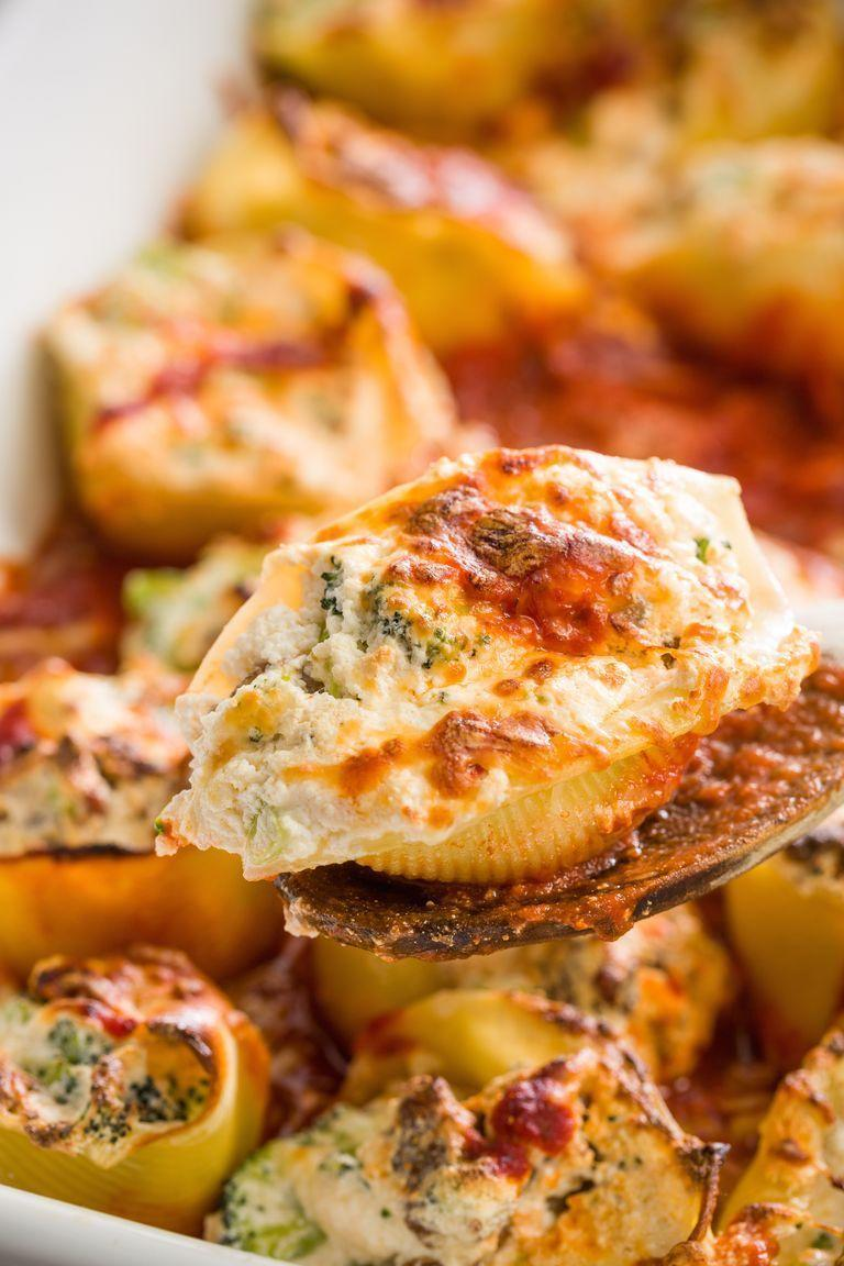 """<p>Spicy Italian sausage kicks up the heat—and the flavour—in this super-delish stuffed pasta.</p><p>Get the <a href=""""https://www.delish.com/uk/cooking/recipes/a28829341/broccoli-sausage-stuffed-shells-recipe/"""" rel=""""nofollow noopener"""" target=""""_blank"""" data-ylk=""""slk:Broccoli-Sausage Stuffed Shells"""" class=""""link rapid-noclick-resp"""">Broccoli-Sausage Stuffed Shells</a> recipe.</p>"""