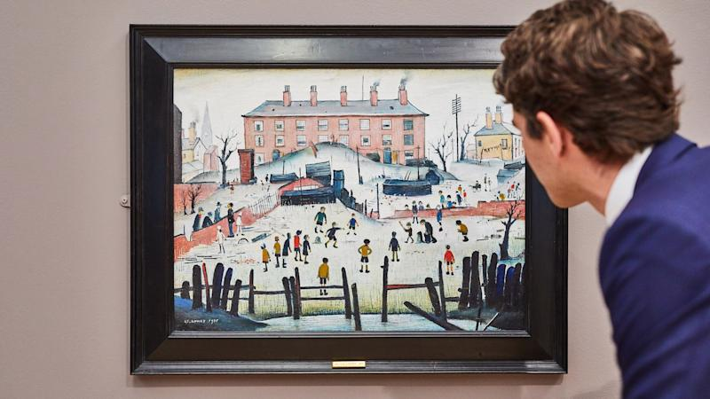 Lowry cricket painting fetches £1.2 million at auction