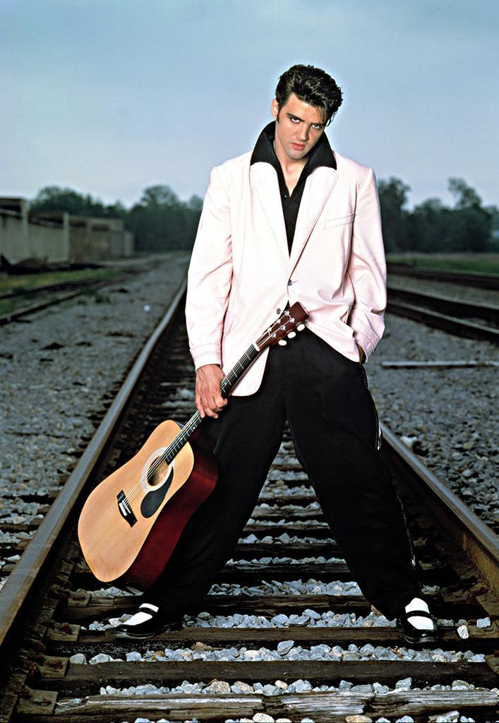 """<p>The king of playing the King, St. Gerard has appeared on screen as Elvis <i>four</i> different times. The actor, who bears an uncanny resemblance to the real Presley, played the rocker in the 1989 movies <i>Heart of Dixie</i> and <i>Great Balls of Fire!</i>, followed by the 1990 TV miniseries <i>Elvis. </i>He also appeared as Elvis's doppelgänger in a 1993 episode of <a rel=""""nofollow"""" href=""""https://www.yahoo.com/tv/tagged/quantum-leap"""" data-ylk=""""slk:Quantum Leap"""" class=""""link rapid-noclick-resp""""><i>Quantum Leap</i></a>. — <em>Marcus Errico </em>(Photo: Everett Collection) </p>"""