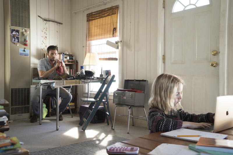 """In this image released by Fox Searchlight Pictures, McKenna Grace, right, and Chris Evans appear in a scene from, """"Gifted."""" (Wilson Webb/Fox Searchlight Pictures via AP)"""