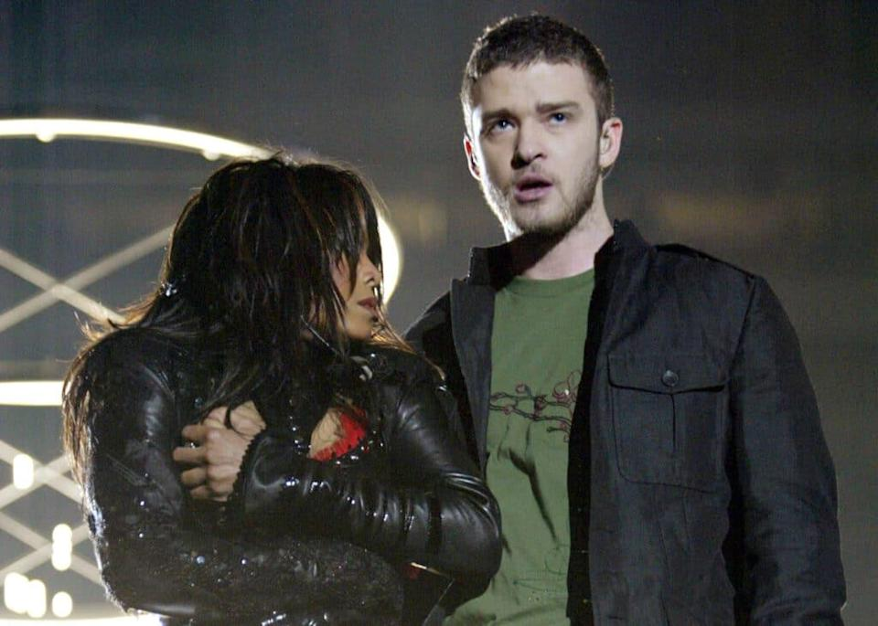 Singer Janet Jackson and Justin Timberlake. (Frank Micelotta/Getty Images)