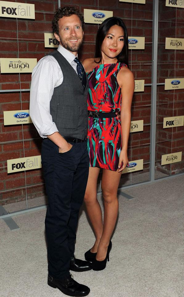 """Tj Thyne (""""Bones"""") and guest attend Fox's Fall 2012 Eco-Casino party at The Bookbindery on September 10, 2012 in Culver City, California."""