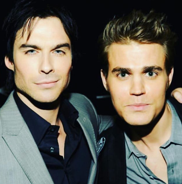 A photo of Ian Somerhalder with his The Vampire Diaries co-star Paul Wesley.