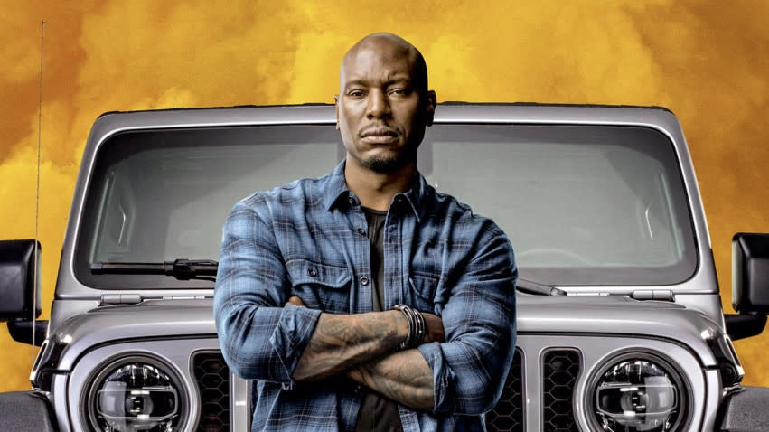 Tyrese Gibson appears on a poster for 'Fast and Furious 9'. (Credit: Universal)