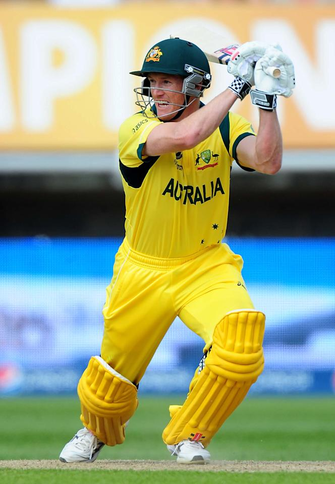 Australia's George Bailey during the ICC Champions Trophy match at Edgbaston, Birmingham.