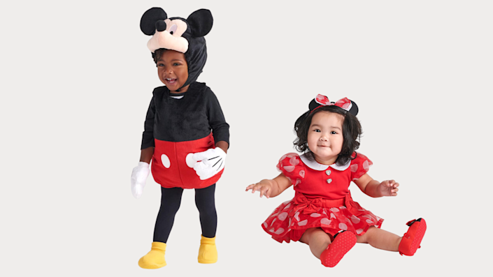 Sibling Halloween costumes: Minnie and Mickey