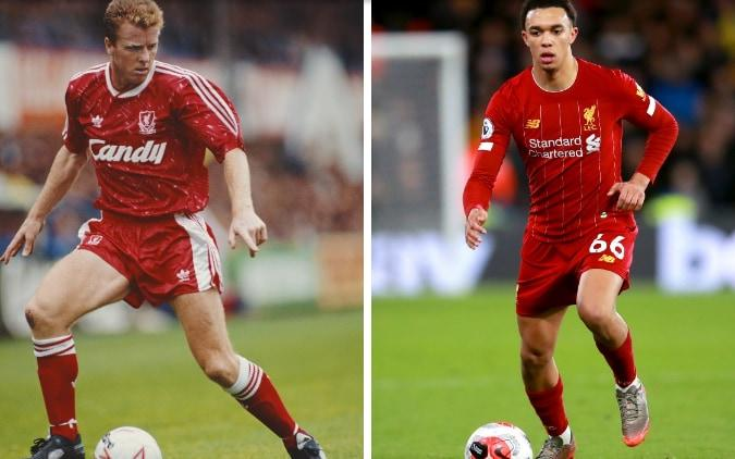 Steve Nicol (left) and Trent Alexander-Arnold (right) - GETTY IMAGES