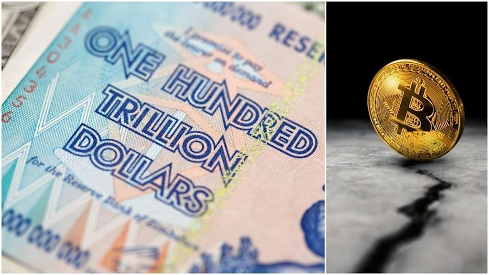 Bitcoin is trading at insane premiums in Zimbabwe. | Source: Shutterstock
