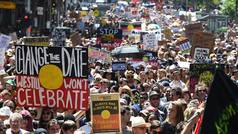 Australia Day will be marked in Melbourne with both an official parade and a protest march