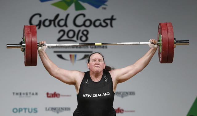 Laurel Hubbard of New Zealand competes in 2018's Commonwealth Games. REUTERS/Paul Childs