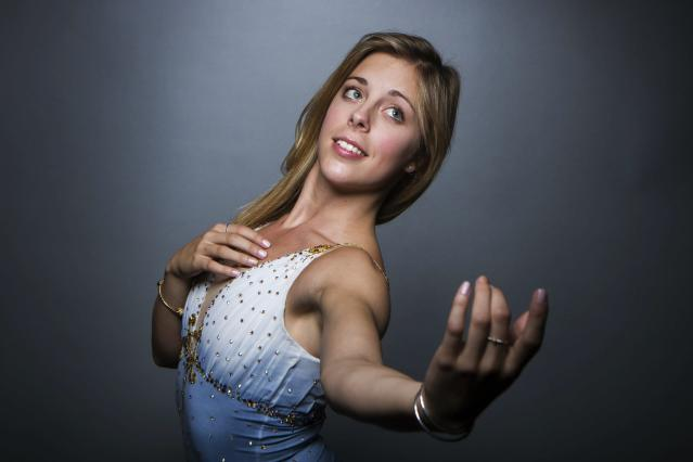 Olympic figure skater Ashley Wagner poses for a portrait during the 2013 U.S. Olympic Team Media Summit in Park City, Utah in this file photo from September 30, 2013. REUTERS/Lucas Jackson/Files (UNITED STATES - Tags: SPORT OLYMPICS FIGURE SKATING)