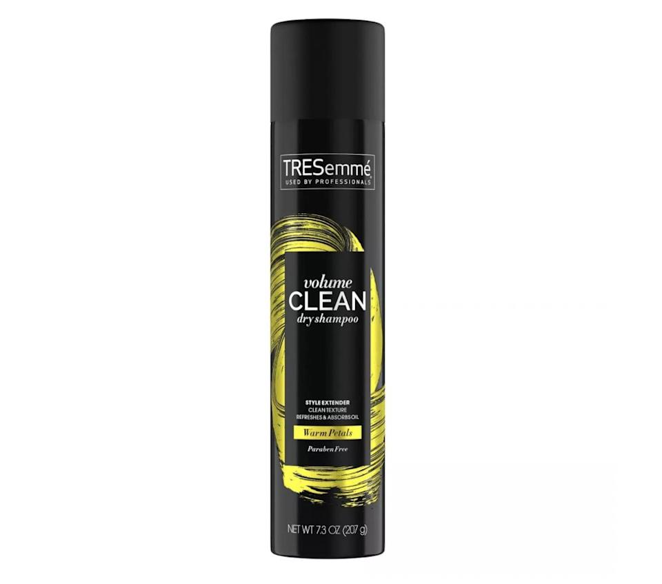 <p>If you're after an affordable, no-BS formula that gets the job done without breaking the bank, look no further than the <span>TRESemme Between Washes Volumizing Dry Shampoo</span> ($6). It's formulated with mineral clay that refreshes a second-day style without leaving a cast on roots.</p>