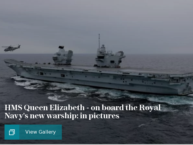 HMS Queen Elizabeth - on board the Royal Navy's new warship: in pictures