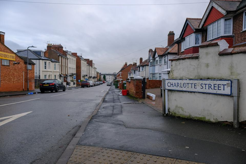 Charlotte Street in Leamington Spa where the attack took place (swns)