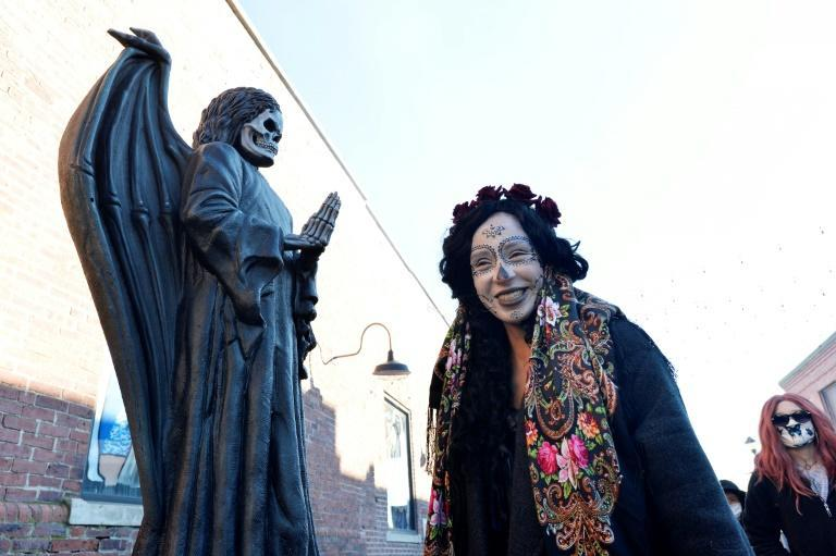 Salem shut down in the evening to avoid drawing the usual tens of thousands of Halloween fans