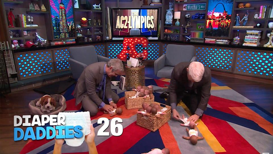 Andy Cohen and Anderson cooper diaper daddies