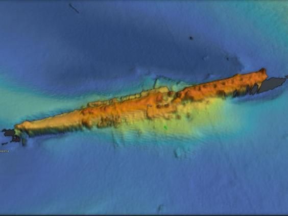 Using multibeam sonar technology, the survey team made this high resolution 3D image of U-boat UC47 on the seabed off Yorkshire