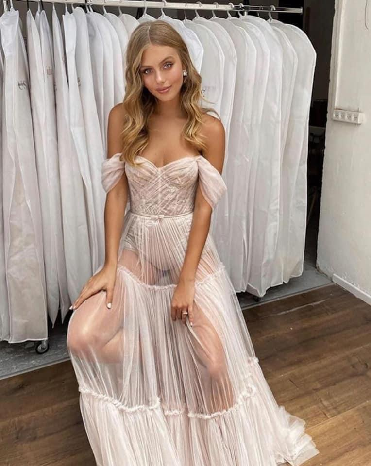 A wedding dress is going viral for all the wrong reasons on social media. Photo: Berta