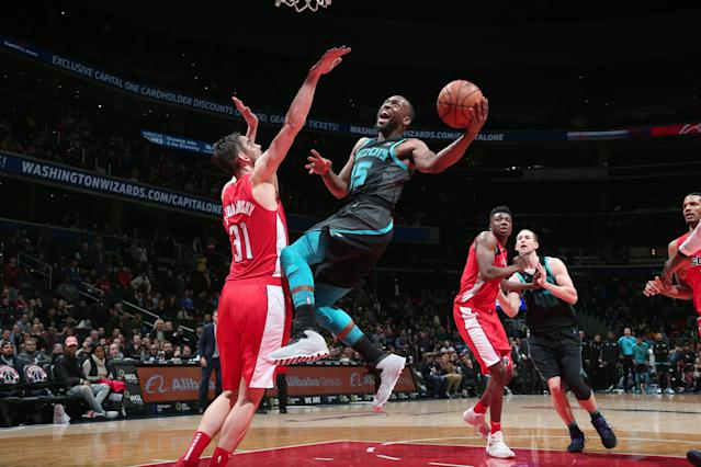 All-Star guard Kemba Walker scored 47 points on Saturday, although the Hornets lost once again despite his heroics. (Photo by Ned Dishman/NBAE via Getty Images)