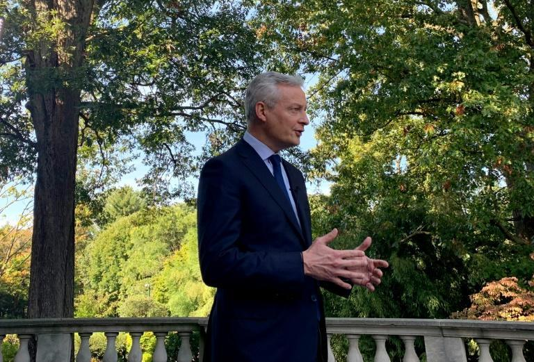 French Finance Minister Bruno Le Maire in an interview with AFP urged Washington to resolve the trade conflicts with its European partners, notably over steel and aluminum (AFP/Bastien INZAURRALDE)