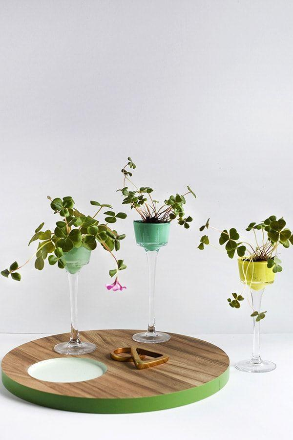 """<p>You won't need the luck of the Irish to keep water from peeling the paint on these charming DIY mini planters. Just apply a layer of Mod Podge after painting and you'll be good as gold. </p><p><strong>Get the tutorial at <a href=""""https://www.delineateyourdwelling.com/four-leaf-clover-mini-planters/"""" rel=""""nofollow noopener"""" target=""""_blank"""" data-ylk=""""slk:Delineate Your Dwelling"""" class=""""link rapid-noclick-resp"""">Delineate Your Dwelling</a>.</strong></p><p><a class=""""link rapid-noclick-resp"""" href=""""https://www.amazon.com/Mod-Podge-Dishwasher-Waterproof-CS15059/dp/B00JX1OFDU/?tag=syn-yahoo-20&ascsubtag=%5Bartid%7C2164.g.35012898%5Bsrc%7Cyahoo-us"""" rel=""""nofollow noopener"""" target=""""_blank"""" data-ylk=""""slk:SHOP MOD PODGE"""">SHOP MOD PODGE</a></p>"""