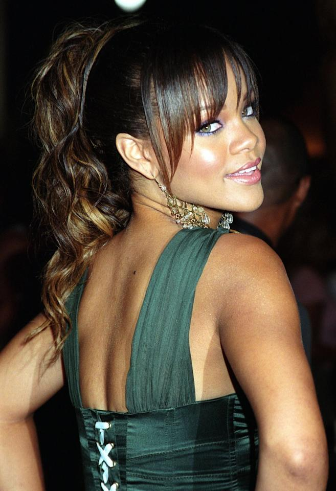 <p>Yes, this look is from the '00s, and the layered straightened bangs are a little old-school, but she's onto something! If you're trying this at home, definitely leave those bangs a bit more natural for a more relaxed look.</p>