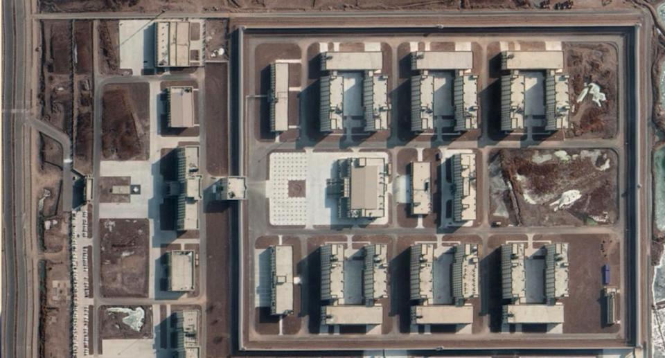 One of the newly built detention camps, according to the ASPI. Source: ASPI