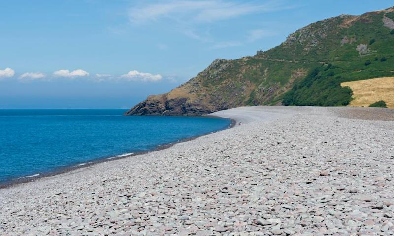 Bossington Beach in Porlock Bay, Somerset