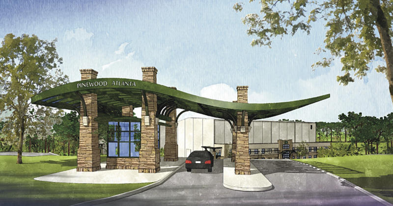 In this image provided by Pinewood Shepperton PLC, an artist's rendering of Pinewood Atlanta is shown. Pinewood Shepperton PLC and River's Rock LLC together announced a joint venture to be named Pinewood Atlanta, a full service film and entertainment studio complex comprised of five sound stages on 288 acres in Fayetteville, Ga., south of Atlanta. (AP Photo/Pinewood Shepperton PLC)