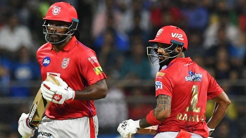 Chris Gayle (left) and KL Rahul (right) were successful at the top of the order for Kings XI Punjab in IPL 2019.