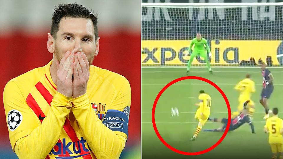 Pictured here, Lionel Messi's goal for Barcelona against PSG.
