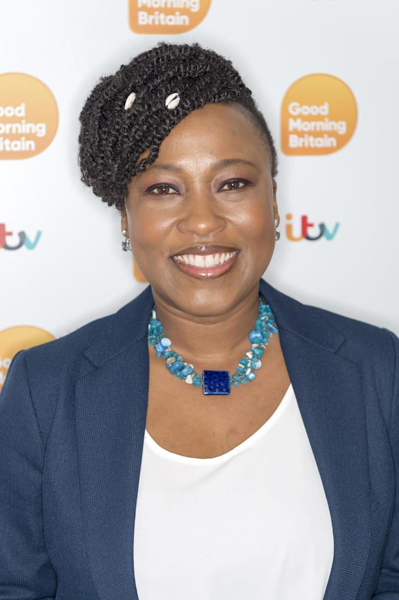 Dr Shola Mos-Shogbamimu backstage at Good Morning Britain (Photo: Ken McKay/ITV/Shutterstock)