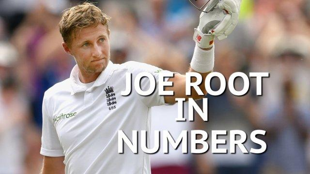 New England captain Joe Root in numbers