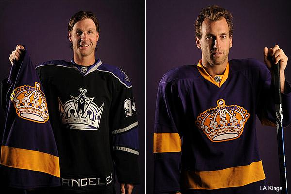 promo code 131b5 96bee L.A. Kings go retro, bring back the purple and gold this season