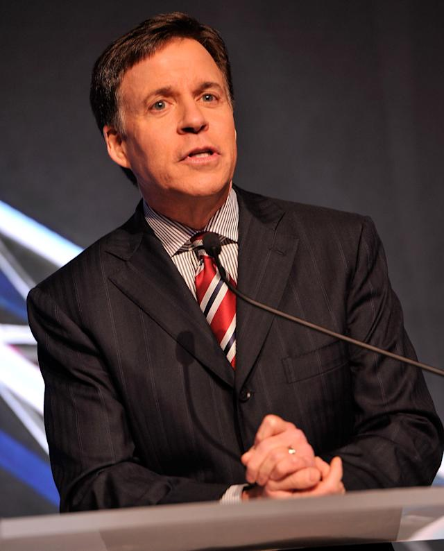 NEW YORK, NY - NOVEMBER 19: Host/TV personality Bob Costas attends the 2012 Golden Goggle awards at the Marriott Marquis Times Square on November 19, 2012 in New York City. (Photo by Stephen Lovekin/Getty Images)