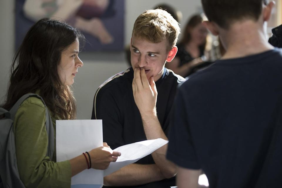 If you don't get the grades you wanted, you can resit your A-Levels the following year: Getty
