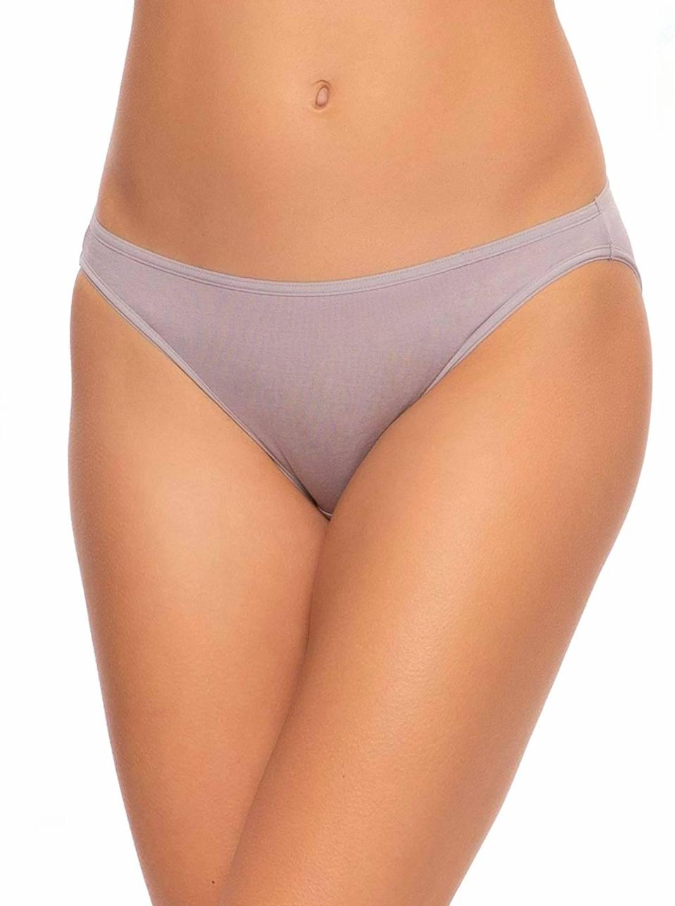"""The kind of undies you slip on without having to second-guess your look of the day. $12, Amazon. <a href=""""https://www.amazon.com/Felina-Smooth-Bikini-Panty-Medium/dp/B07ZTTYP3B/ref="""" rel=""""nofollow noopener"""" target=""""_blank"""" data-ylk=""""slk:Get it now!"""" class=""""link rapid-noclick-resp"""">Get it now!</a>"""