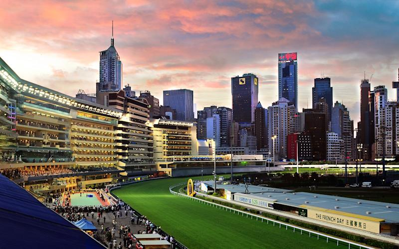 hong kong, happy valley racecourse - getty