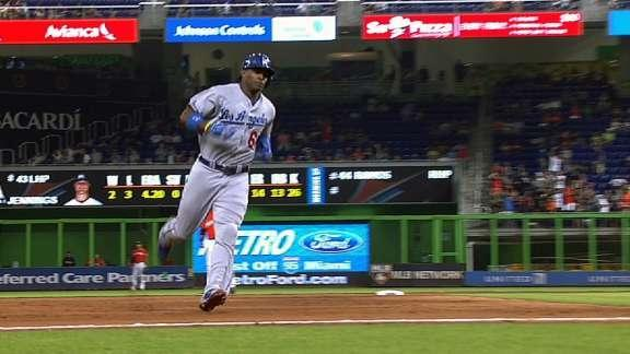 Yasiel Puig hits go-ahead homer after showing up late and being benched by Dodgers