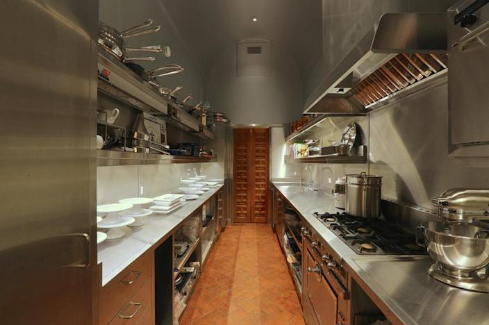 <p>On the other side of the main kitchen is where main-floor catering preparation takes place. (Photo by Steve Brown/Sepia Productions)</p>